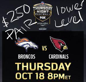 Arizona cardinals vs Denver Broncos TNF for Sale in Tolleson, AZ