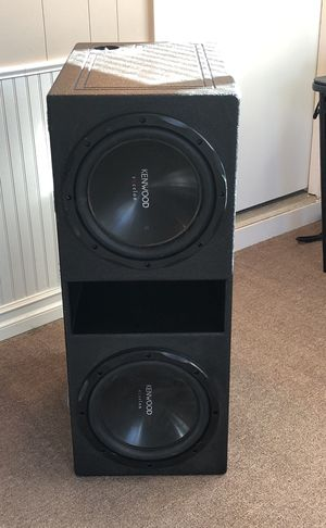 """2 12"""" subs and """"q"""" bomb pro box for Sale in Rolla, MO"""