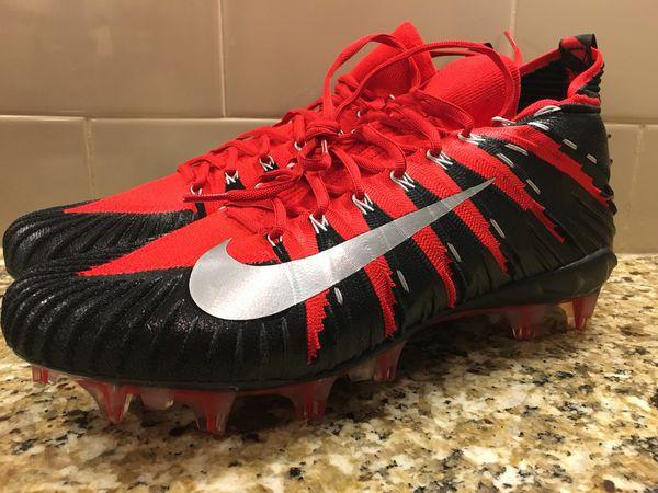7da7e1398 Nike Alpha Menace Elite Football Cleats New Black Red Mens SZ 14 877141-610