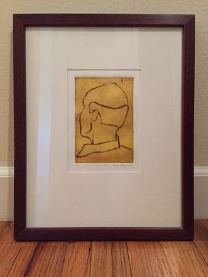 Mirv's Donor Area - Intaglio Chine-colle etching for Sale in Portland, OR