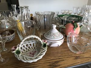 Cristal ware and many more must sell, separate or together make a decent offer for Sale in Phoenix, AZ