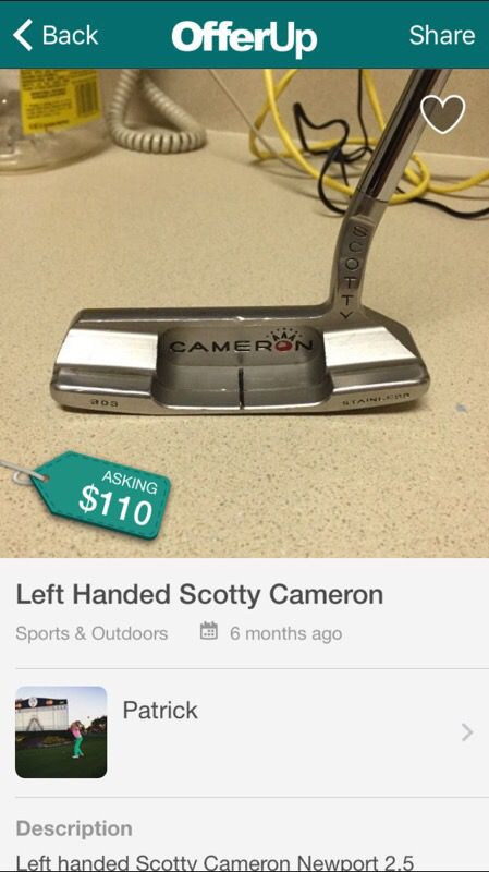 Scotty Cameron Left Handed Putters >> Left Handed Scotty Cameron Newport 2 5 For Sale In North Providence