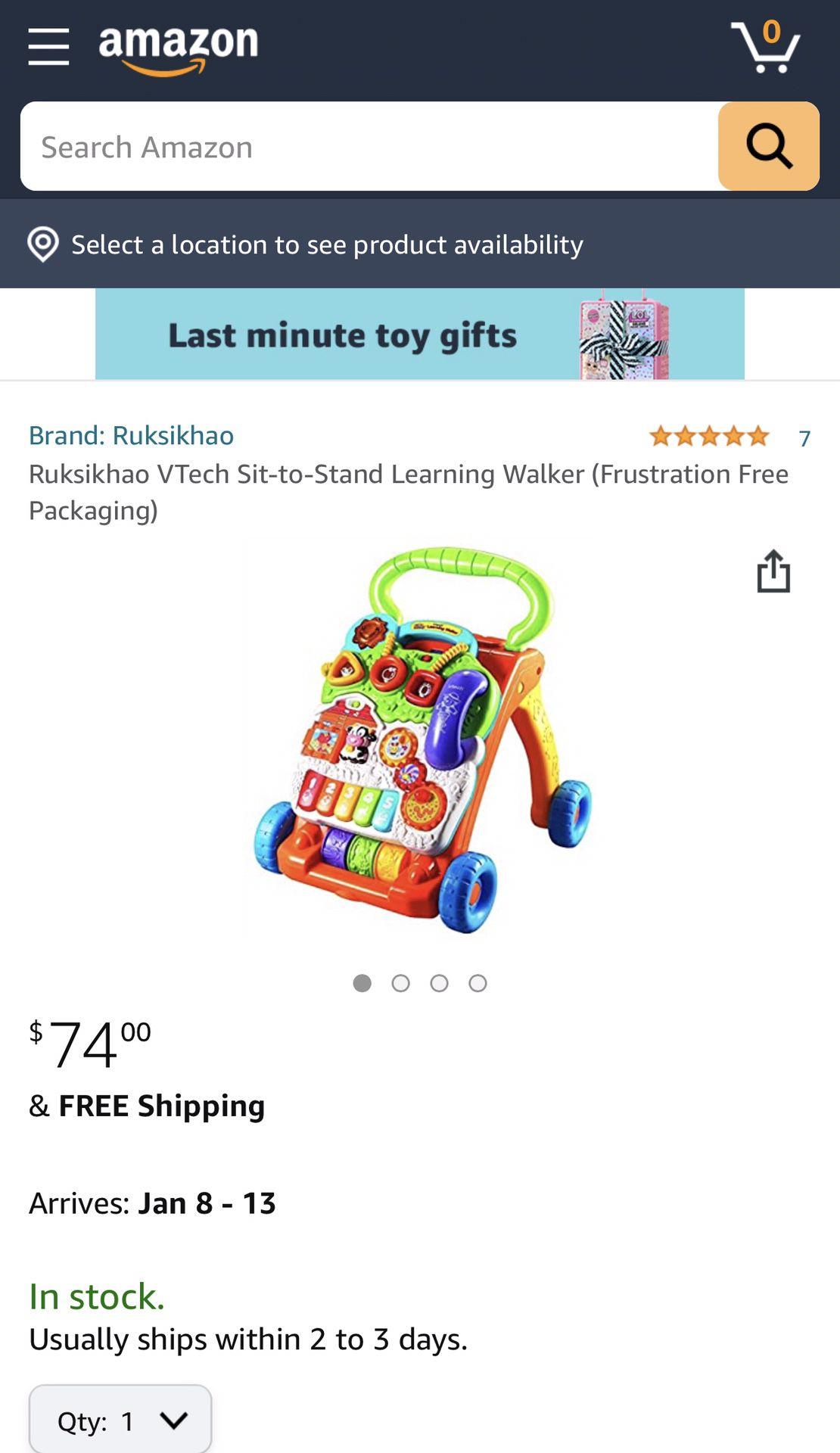 Vtech- Learning Baby Walker