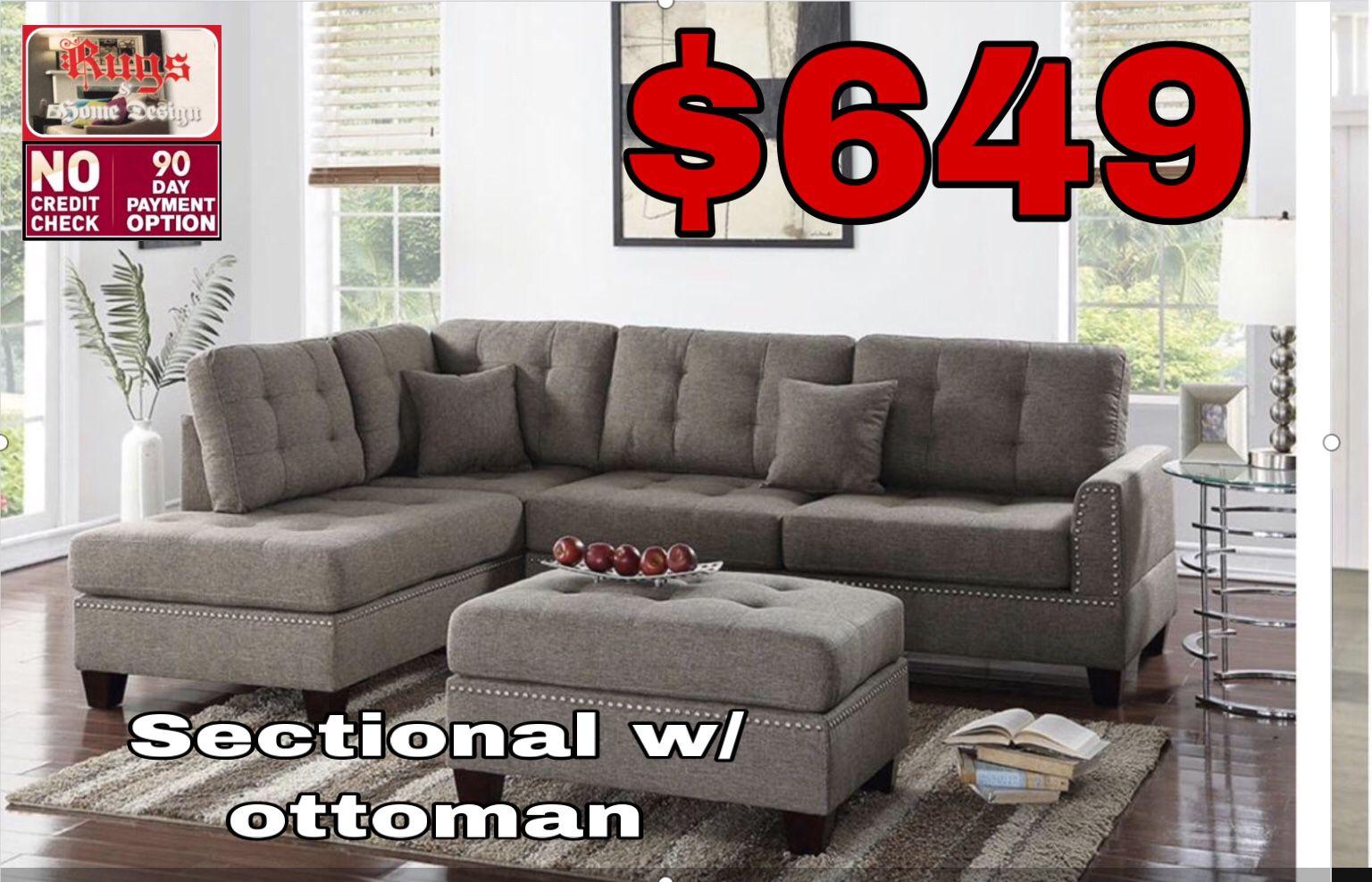Sectional w/ ottoman
