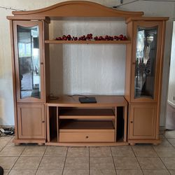 Polished Wood- TV Stand  Thumbnail
