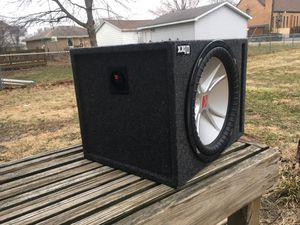 Photo Subwoofer 15 inch and box KICKER 1000 watts