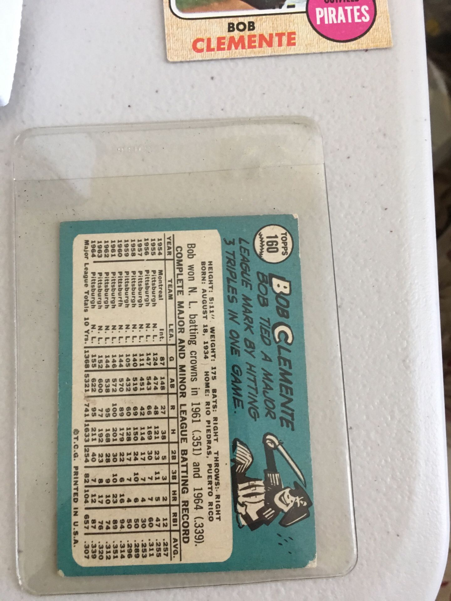 Roberto Clemente Baseball Cards