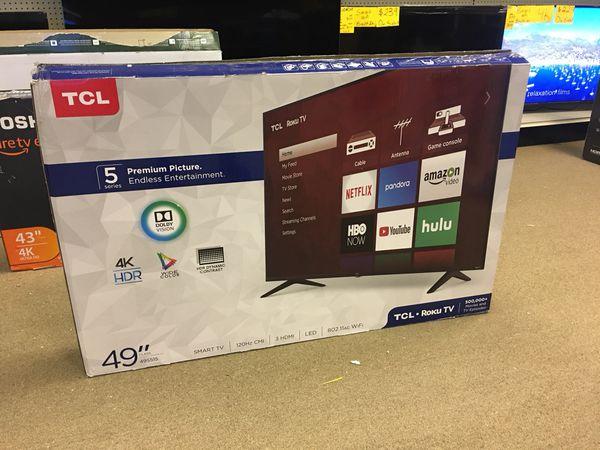"TCL 49"" HDTV LED 4K Smart Tv RoKu Built In WiFi Model 49S515 for Sale in  Duluth, GA - OfferUp"