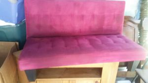 Hot Pink Futon With Wooden Legs Three And A Half Feet Long