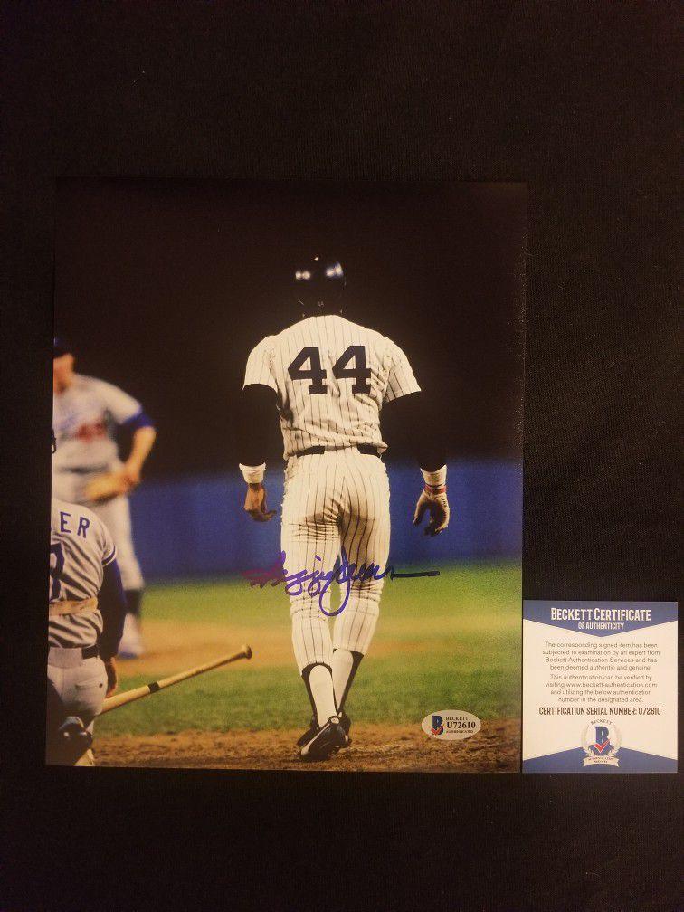 Reggie Jackson signed 8x10 photo