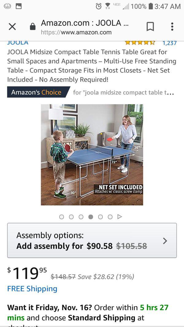 18284c6853e JOOLA Midsize Compact Table Tennis for Sale in Cincinnati