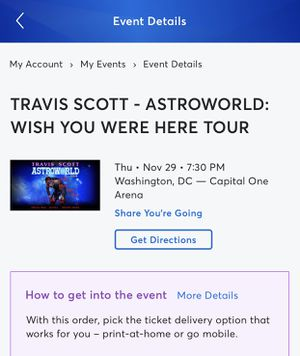 Travis Scott Ticket for Sale in undefined