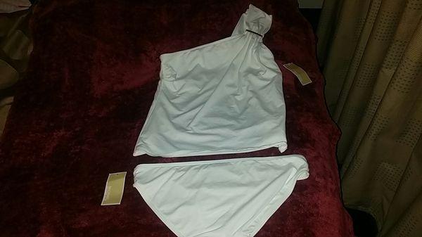 b01006081c7f8 *NEW* Michael Kors Cruise Collection 2018 White 2-Piece Bathing Swim Suit