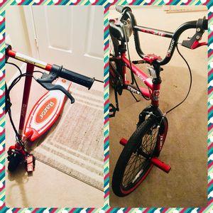 Razor Scooter & Razor Bike Both for $65 for Sale in Manassas, VA