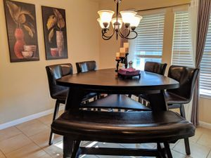 Austin Tx Noah Chocolate 6 Pc Bar Height Dining Room With Barstools For In Leander