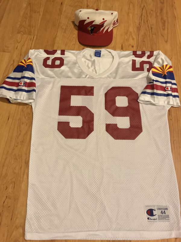 6227b51ca6eb Large Arizona cardinals jersey with snap back hat (Clothing   Shoes) in  Glendale