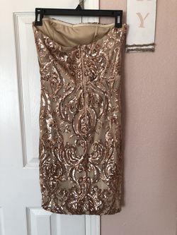 Gold Sequin dress Thumbnail