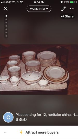 Antique Noritake China, 12 piece placesettings, gold monogrammed with the letter B for Sale in San Antonio, TX