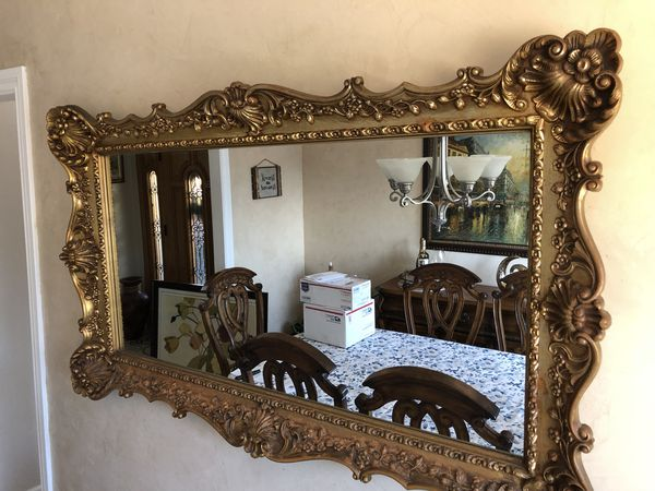 "Large antique mirror, gold frame 37"" by 57"" Turner Wall accessories ..."