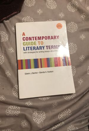 A contemporary guide to literary terms book for Sale in Bakersfield, CA