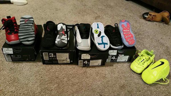 ce023fa5da9124 Jordans and Nike foams size 3c-4c for Sale in Bedford