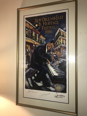 """New Orleans Jazz Fest Remarque""""Fats Domino"""" for Sale in Chapel Hill, NC"""