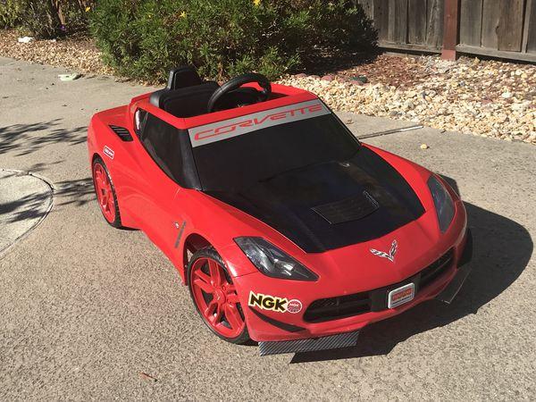 Wheels 12v Ride On Kids Electric Battery Motorized Car Corvette