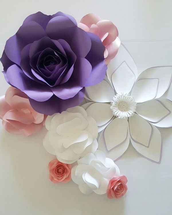 Paper Flower Wall Backdrop Baby Shower Wedding Decoration For Sale