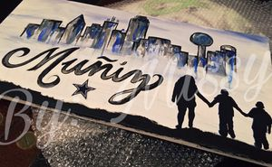 Dallas Cowboys/Skyline custom Painting for Sale in Dallas, TX