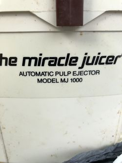 The Miracle Juicer used condition was in storage Thumbnail