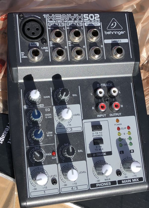 Behringer Xenyx Q502USB 5-input, 2-bus Analog Mixer with 3-band EQ and USB Audio Interface
