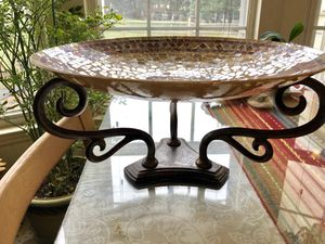 Pier 1 Import Center Piece with Wrought Iron Stand for Sale in MONTGOMRY VLG, MD