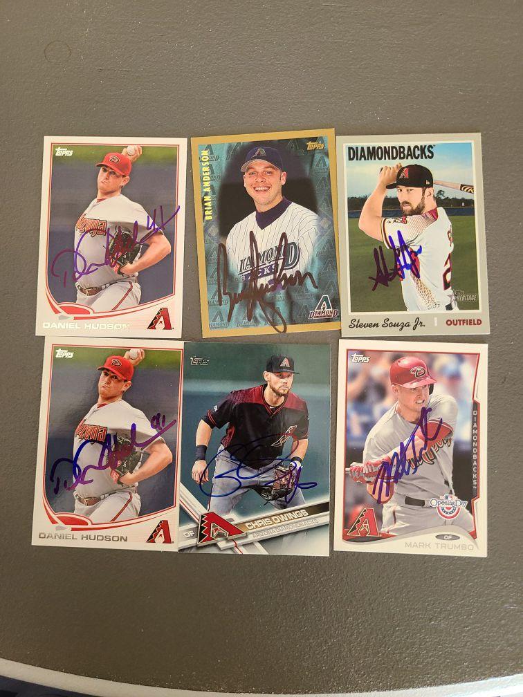 DBACKS autographs Card's