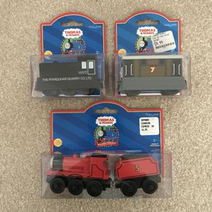 Thomas and Friends Trains Toys in box wooden railroad for Sale in Burtonsville, MD