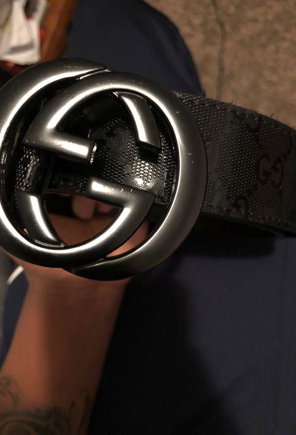 869b148dc5f All black Gucci belt