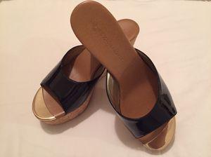 Boston Proper Beautiful Black/ Gold Sandals still in Box for Sale in Alexandria, VA