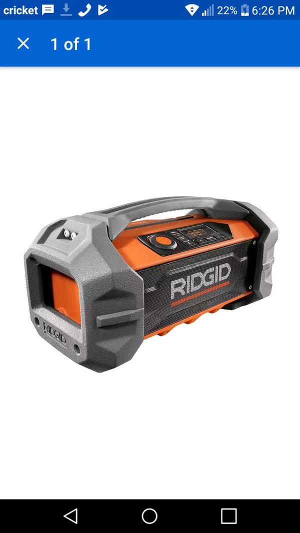 372671f7f3f RIDGID R84087 GEN5X 18-Volt Jobsite Radio with Bluetooth Wireless Technology  for Sale in Bala Cynwyd