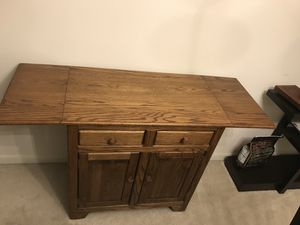 Solid wood (walnut) console table/bar for Sale in Catonsville, MD