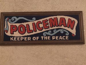 """Embroidered and Framed """"Keeper Of The Peace"""" for Sale in Davenport, FL"""