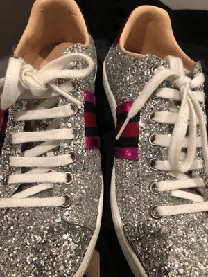 Women Gucci Ace Glitter in size 36 these fit larger $550 for Sale in Reston, VA