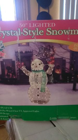 Crystal Style Snowman for Sale in East Los Angeles, CA