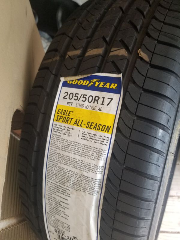 45b1bb4a1 Goodyear Eagle Sport All season 205 50 17 for Sale in Marietta