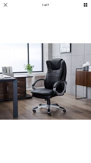 Greenforest Office Chair Pu Leather Executive Computer Desk Headrest For In Holly Springs