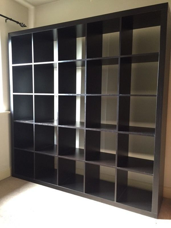 newest a6093 aeb6e IKEA KALLAX 5x5 shelving unit, black-brown for Sale in Clackamas, OR -  OfferUp