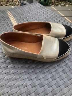 Espadrille flatform leather shoes Thumbnail