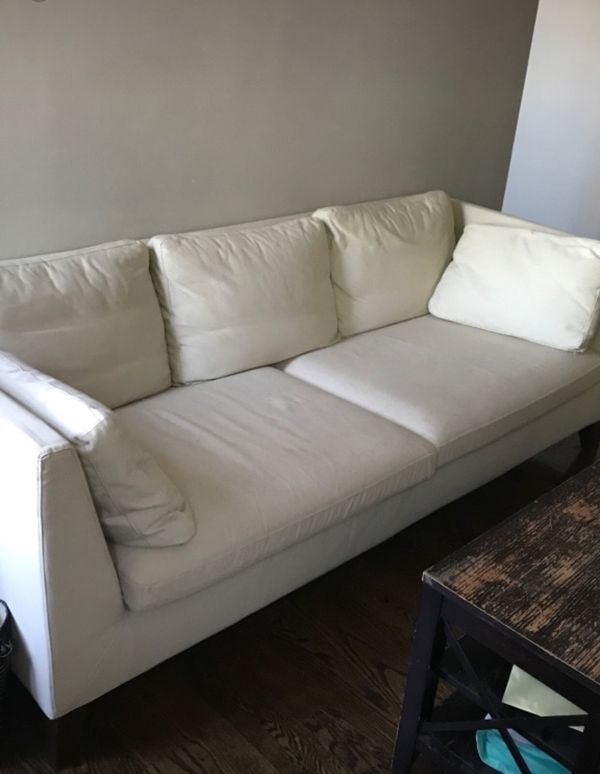 irena couch bed modern legs barons wooden white upholstered sofa