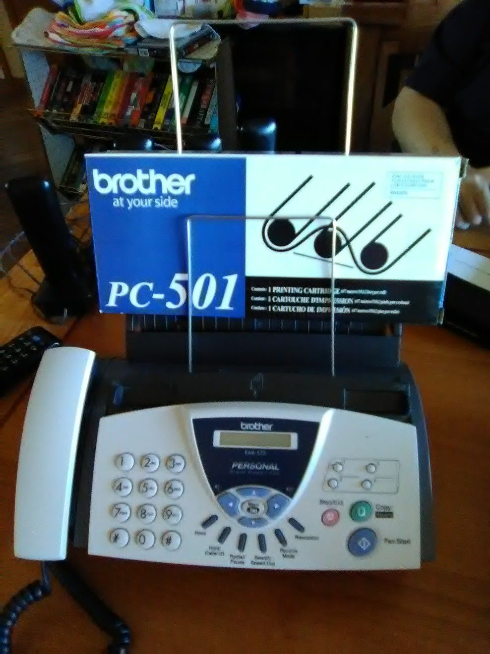 Telephones and fax machine are in good condition