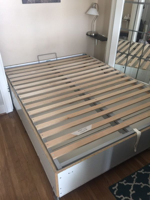 Queen Size bed frame. IKEA Sultan Alsarp storage bed. for Sale in ...