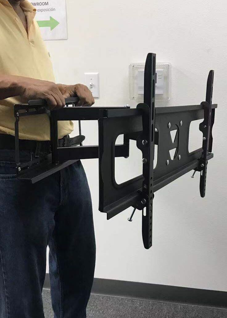 New in box universal 36 to 70 inches single arm swivel full motion tv television wall mount stand 99 lbs capacity