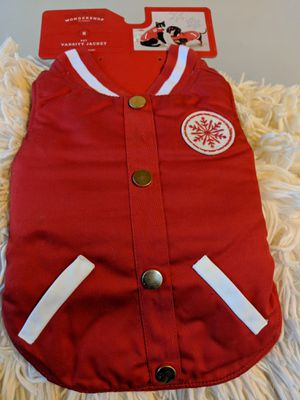 NEW Wondershop SM Pet Varsity Jacket for Sale in Columbus, OH